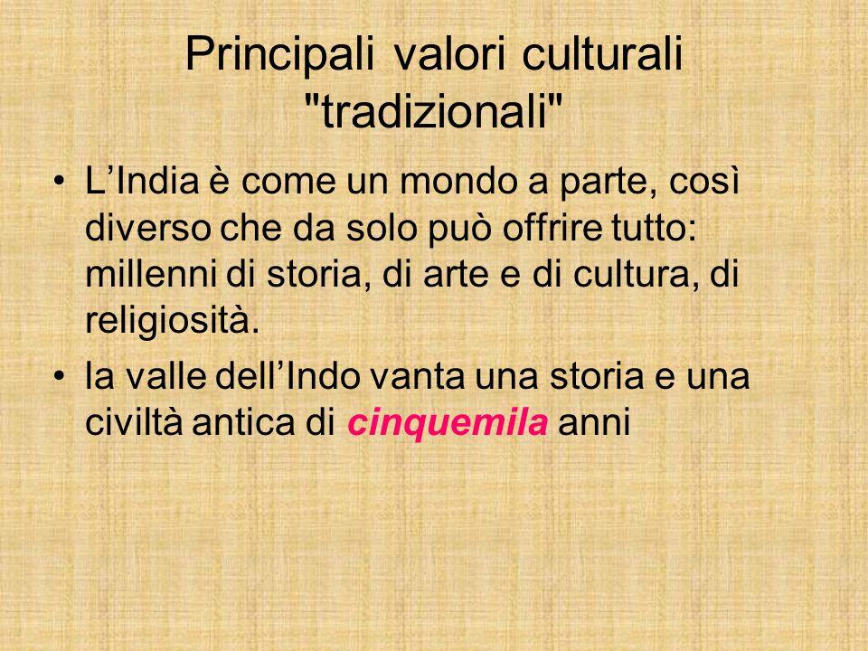 Principali valori culturali