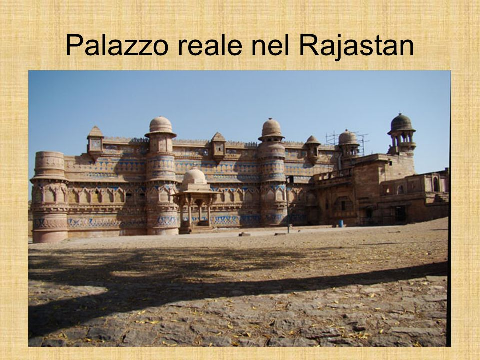 Palazzo reale nel Rajastan