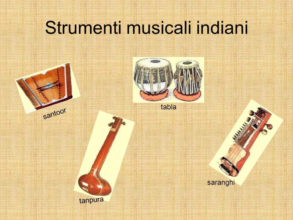 Strumenti musicali indiani santoor saranghi tanpura tabla