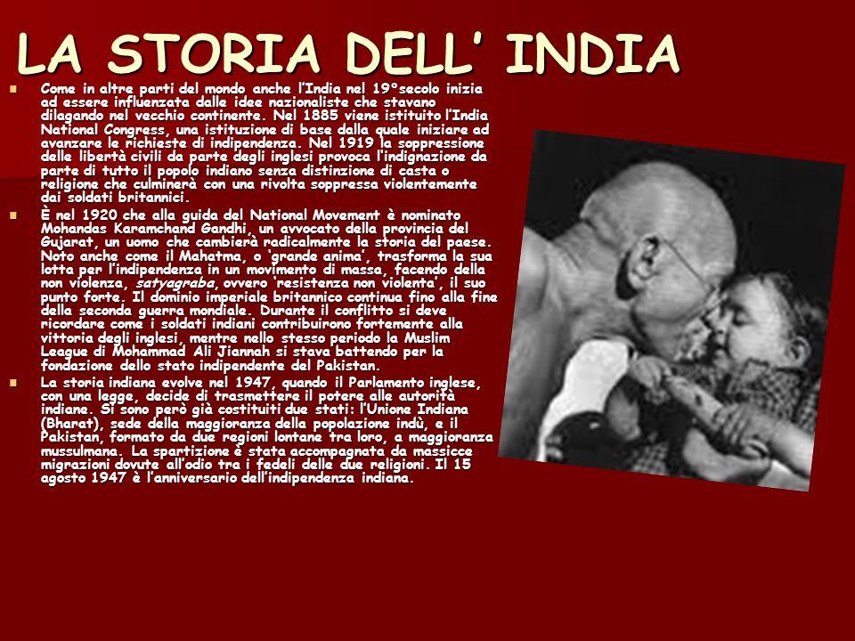 LA STORIA DELL INDIA Come in altre parti del mondo anche lIndia nel 19°secolo inizia ad essere influenzata dalle idee nazionaliste che stavano dilagando nel vecchio continente.