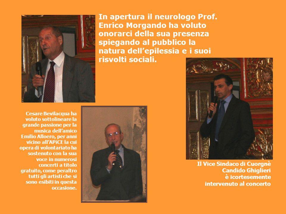 In apertura il neurologo Prof. Enrico Morgando ha voluto onorarci della sua presenza spiegando al pubblico la natura dellepilessia e i suoi risvolti s