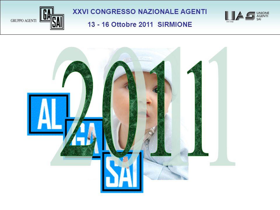 XXVI CONGRESSO NAZIONALE AGENTI 13 - 16 Ottobre 2011 SIRMIONE Collegamenti 272 Agenzie con Alga 272 349 Subagenzie collegate 349 621 Punti vendita collegati