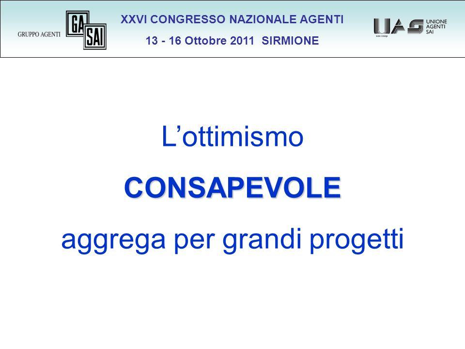 XXVI CONGRESSO NAZIONALE AGENTI 13 - 16 Ottobre 2011 SIRMIONE LottimismoCONSAPEVOLE aggrega per grandi progetti