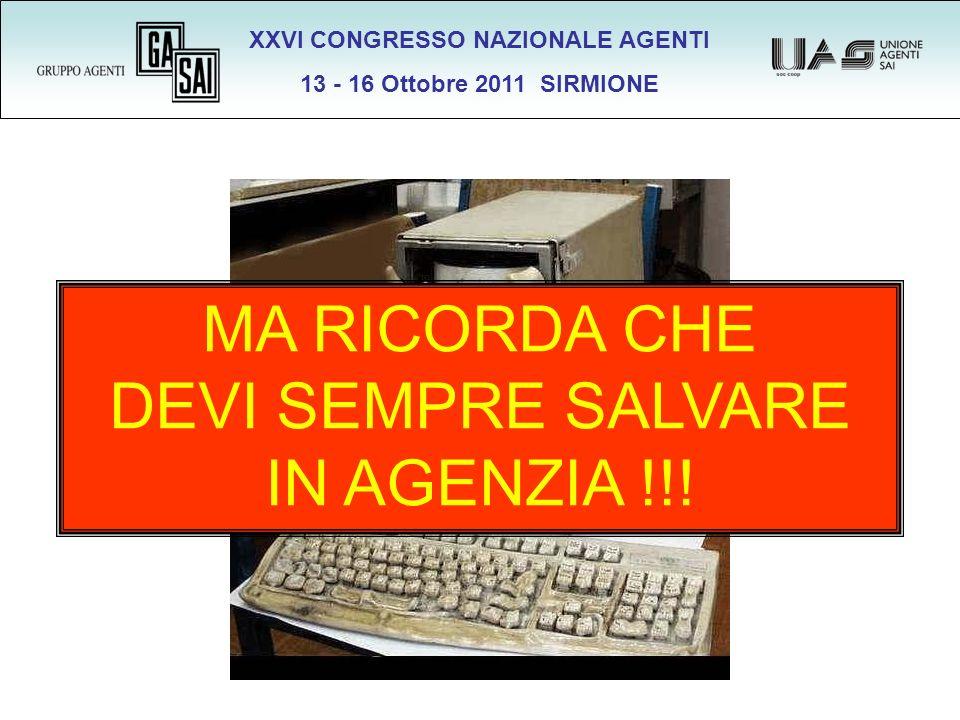 XXVI CONGRESSO NAZIONALE AGENTI 13 - 16 Ottobre 2011 SIRMIONE SALVATAGGIO DA REMOTO .