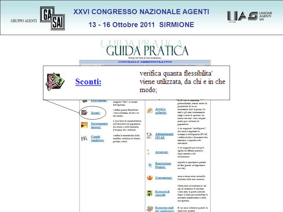 XXVI CONGRESSO NAZIONALE AGENTI 13 - 16 Ottobre 2011 SIRMIONE 500 x 0,60 =.
