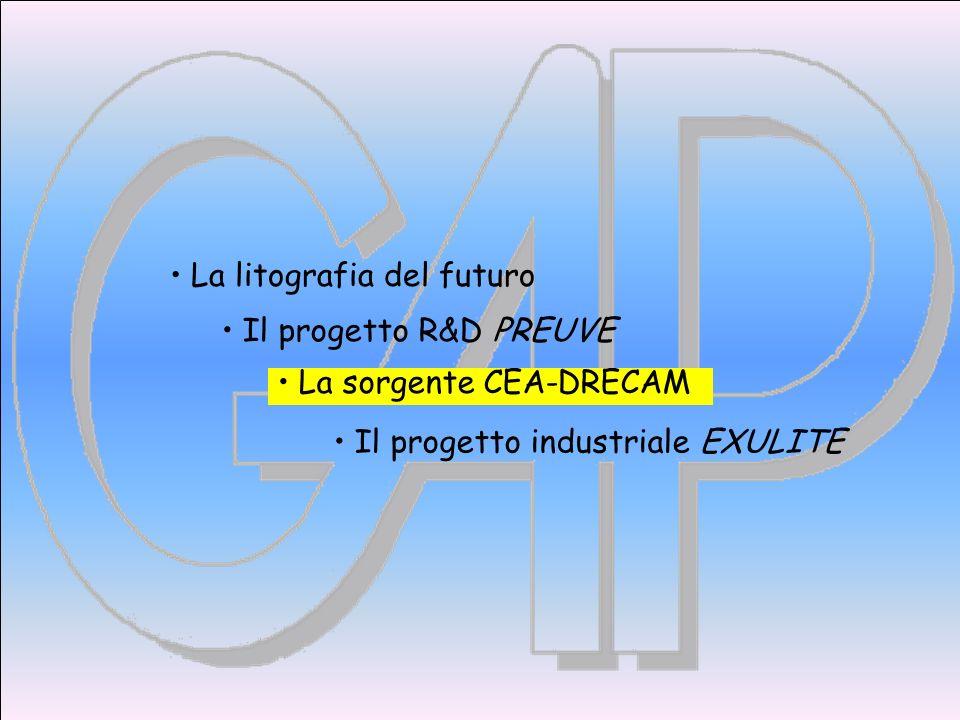 Il progetto R&D PREUVE Il progetto industriale EXULITE La litografia del futuro La sorgente CEA-DRECAM