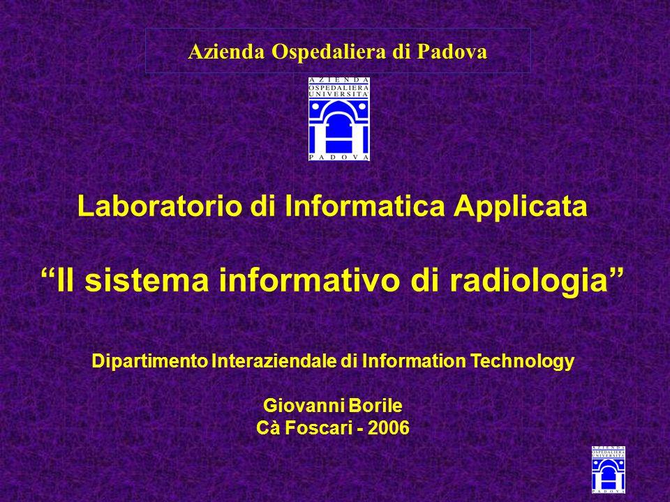 Telemedicina Architettura del Sistema Informativo Repository dei dati clinici Servizi diagn.