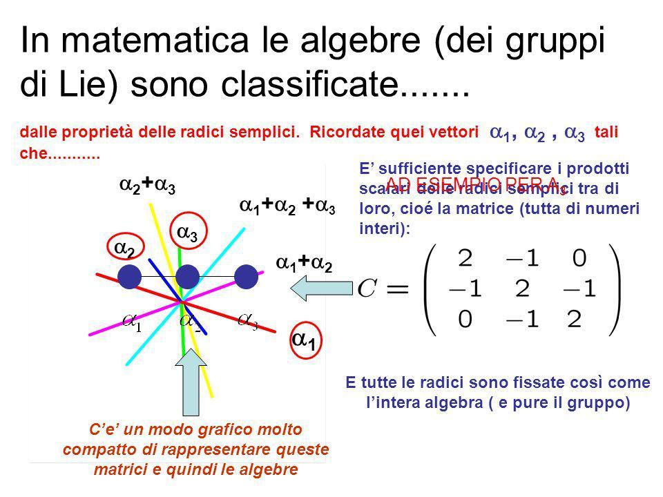 RISPOSTA: La sottoalgebra di Cartan di unalgebra di rango 9 cioè con 9 generatori di Cartan.