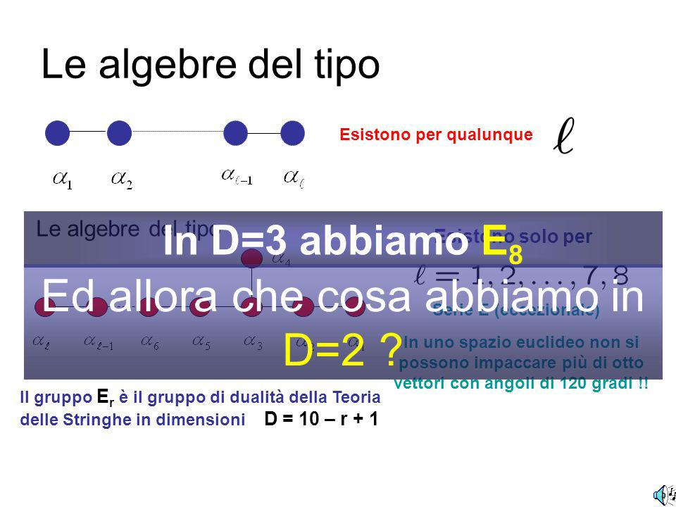 In matematica le algebre (dei gruppi di Lie) sono classificate.......