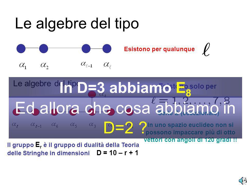 In matematica le algebre (dei gruppi di Lie) sono classificate.......