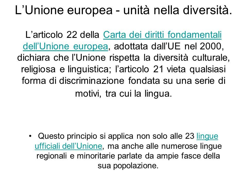 LUnione europea - unità nella diversità.