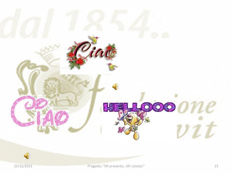 15/12/201113Progetto:
