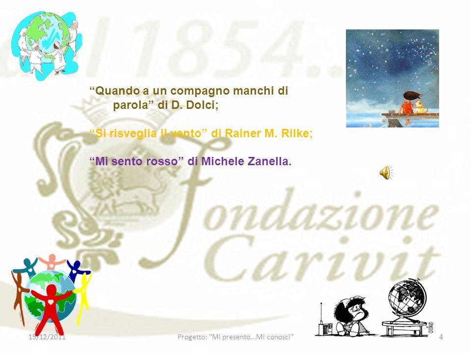 Istituto comprensivo PIO FEDI Scuola Primaria SALVO DACQUISTO Classi 4^B,5^A/B 15/12/20115Progetto: Mi presento...Mi conosci