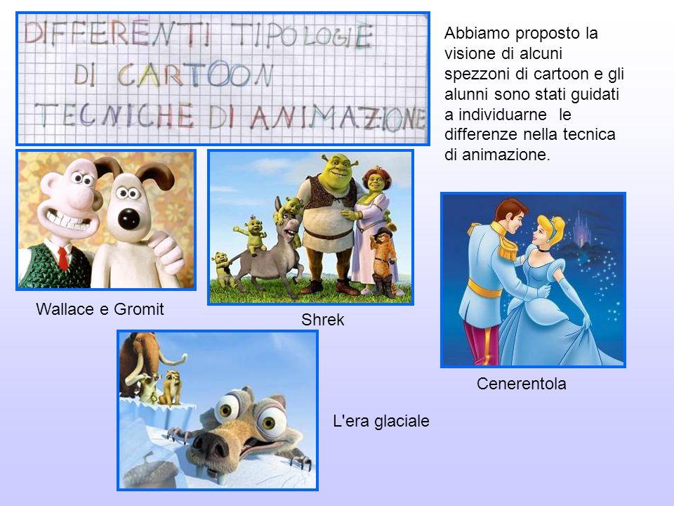 Abbiamo proposto la visione di alcuni spezzoni di cartoon e gli alunni sono stati guidati a individuarne le differenze nella tecnica di animazione. Wa