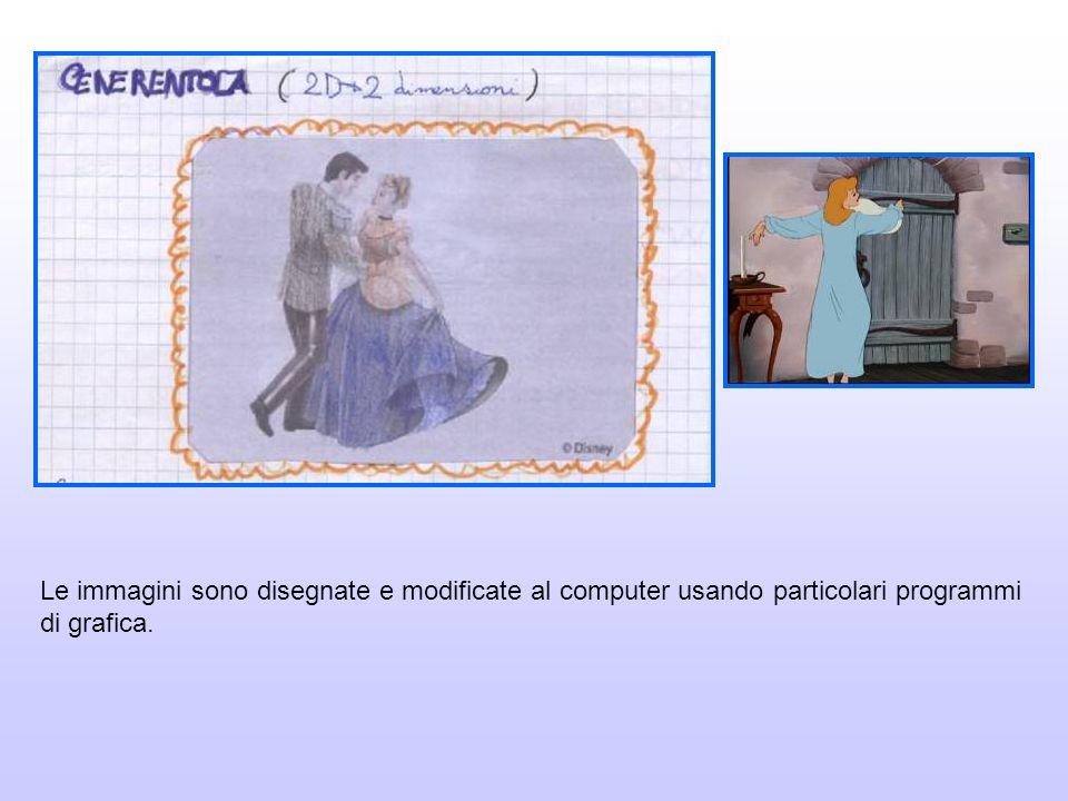 Le immagini sono disegnate e modificate al computer usando particolari programmi di grafica.