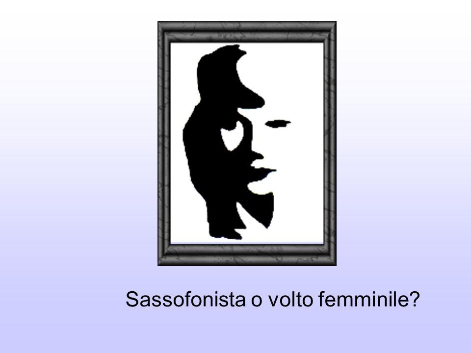 Sassofonista o volto femminile?