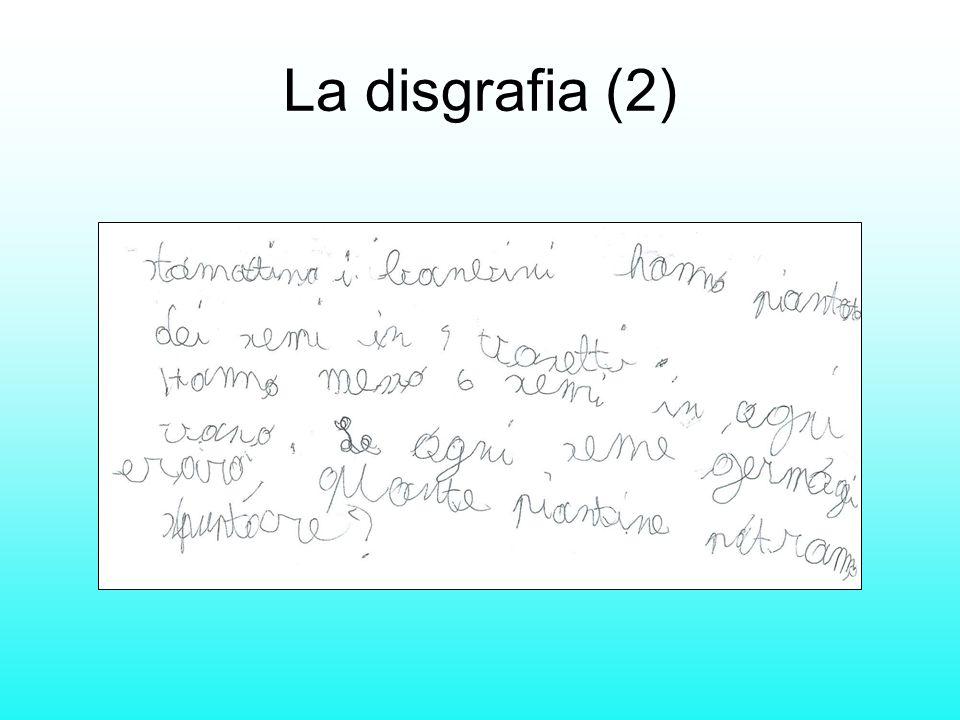 La disgrafia (2)