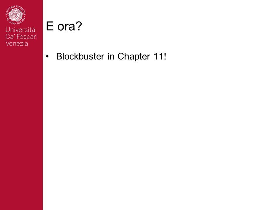 E ora? Blockbuster in Chapter 11!