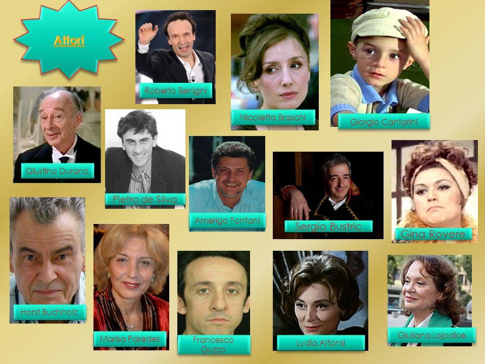 Gli attori che hanno recitato nel film La vita è bella sono: -Roberto Benigni: Guido Orefice; - Nicoletta Braschi: Dora; - Giorgio Cantarini: Giosuè;
