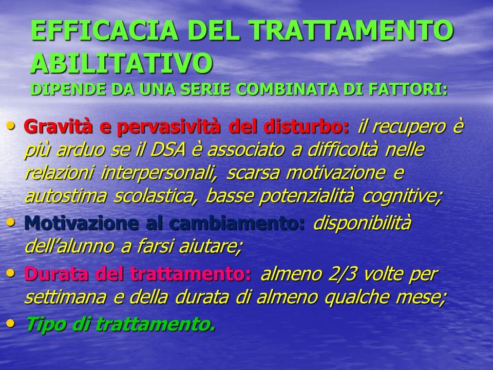 PROGNOSI DEL DSA in relazione a 5 fattori (Critchley): Buona condizione cognitiva; Buona condizione cognitiva; Identificazione ed intervento precoce;