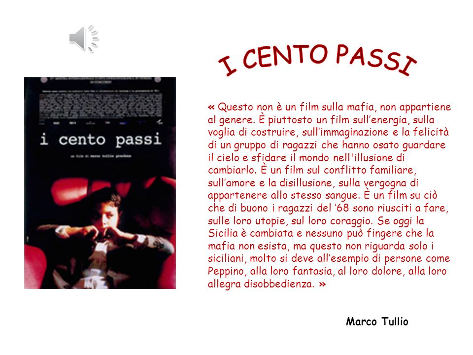 « Questo non è un film sulla mafia, non appartiene al genere.
