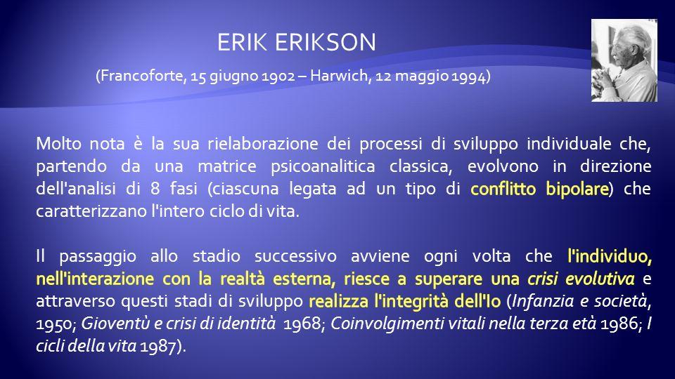ERIK ERIKSON (Francoforte, 15 giugno 1902 – Harwich, 12 maggio 1994)