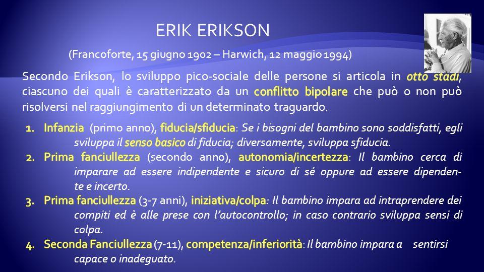 (Francoforte, 15 giugno 1902 – Harwich, 12 maggio 1994) ERIK ERIKSON