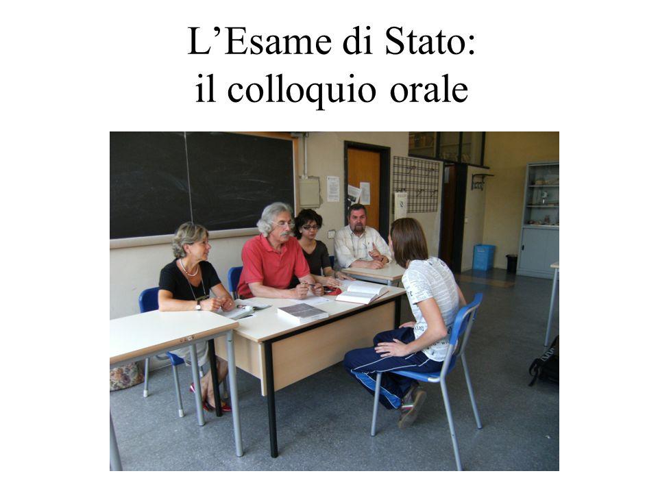LEsame di Stato: il colloquio orale