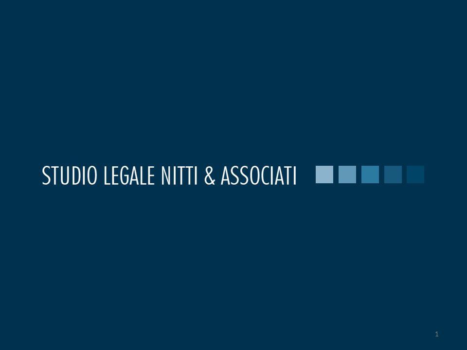 2 Impresa: legalità e sicurezza La contraffazione e i rimedi 2© 2010 Studio Legale Nitti & Associati – tutti i diritti riservati - www.nitti.it