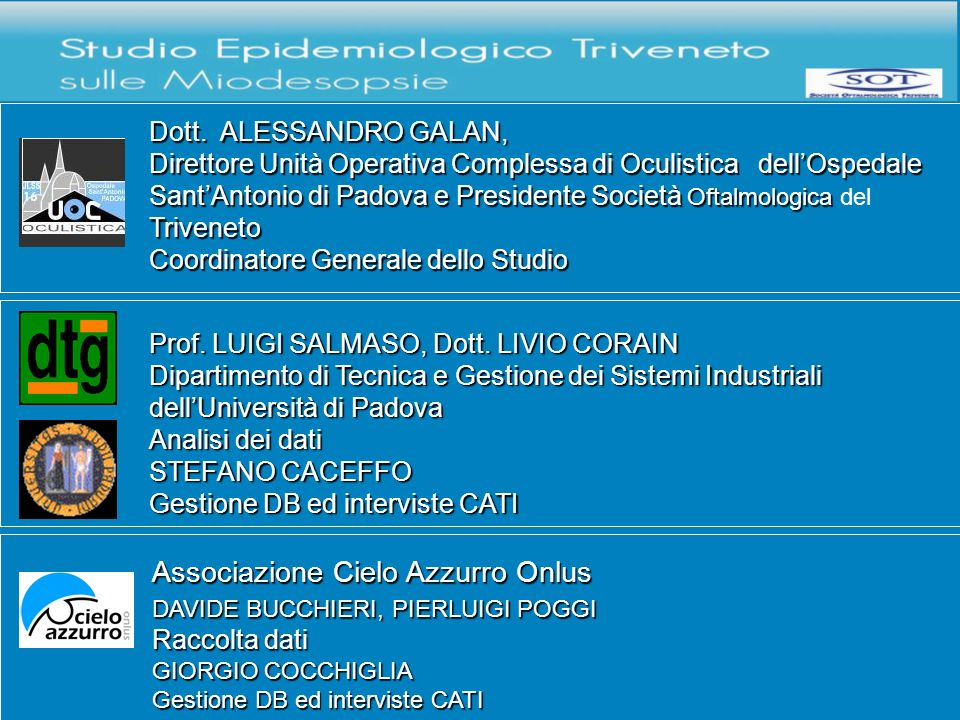 Dott.A. Galan Ospedale Sant Antonio, U.O. Oculistica, Padova Dott.