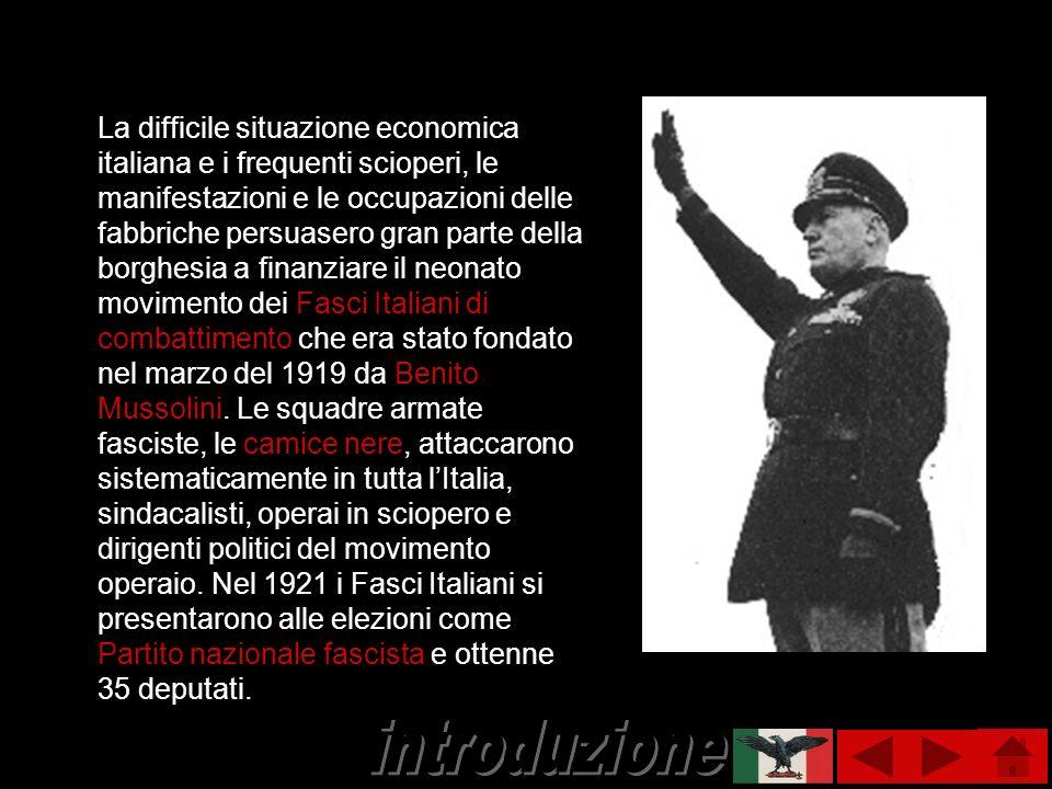 La difficile situazione economica italiana e i frequenti scioperi, le manifestazioni e le occupazioni delle fabbriche persuasero gran parte della borg