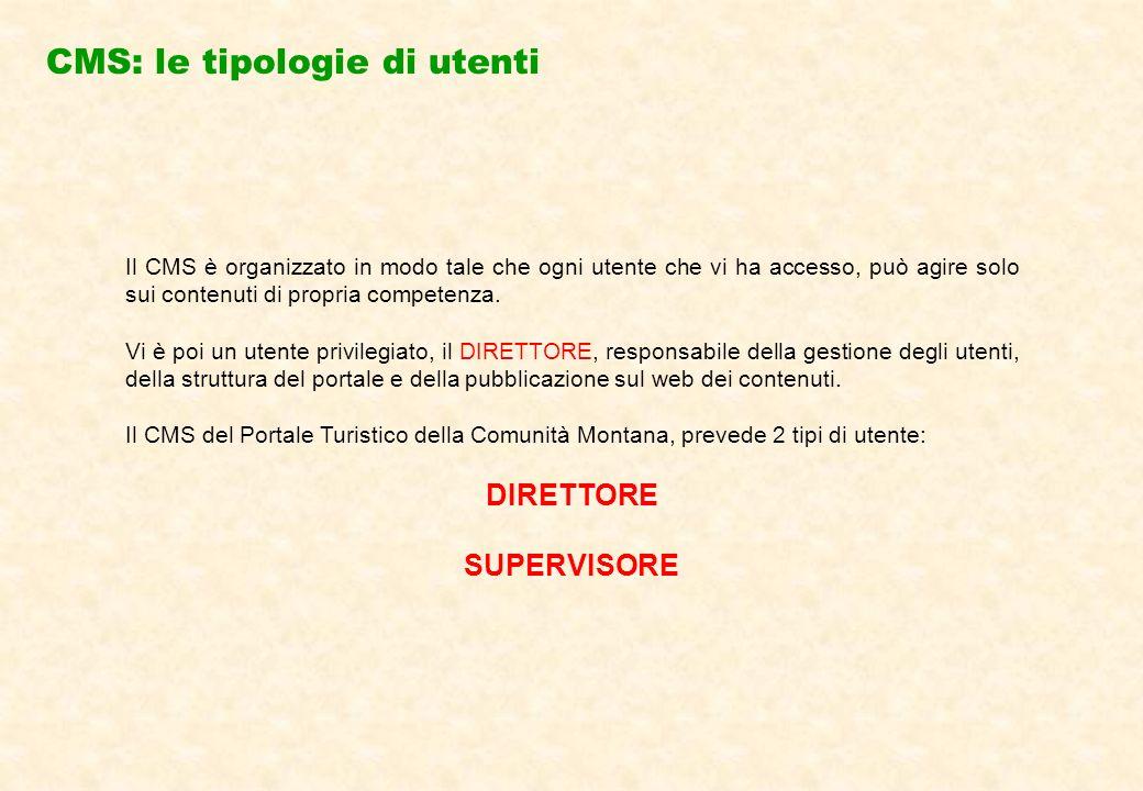 IL DIRETTORE:è il responsabile della struttura del portale (es.