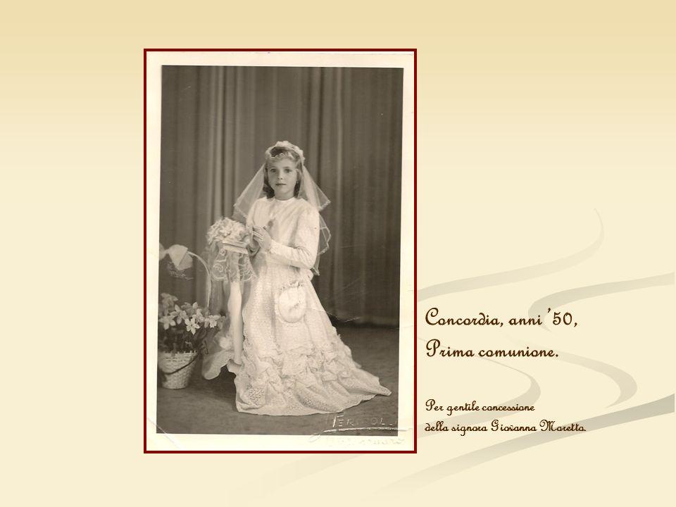 Concordia, anni 50, Prima comunione. Per gentile concessione della signora Giovanna Moretto.