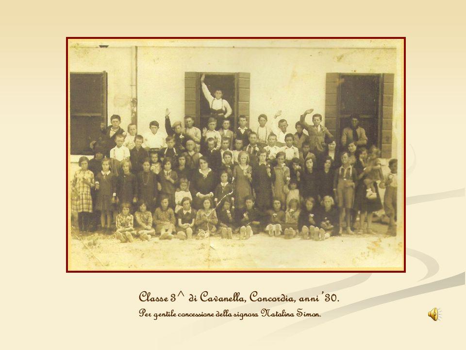 Classe 3^ di Cavanella, Concordia, anni 30. Per gentile concessione della signora Natalina Simon.