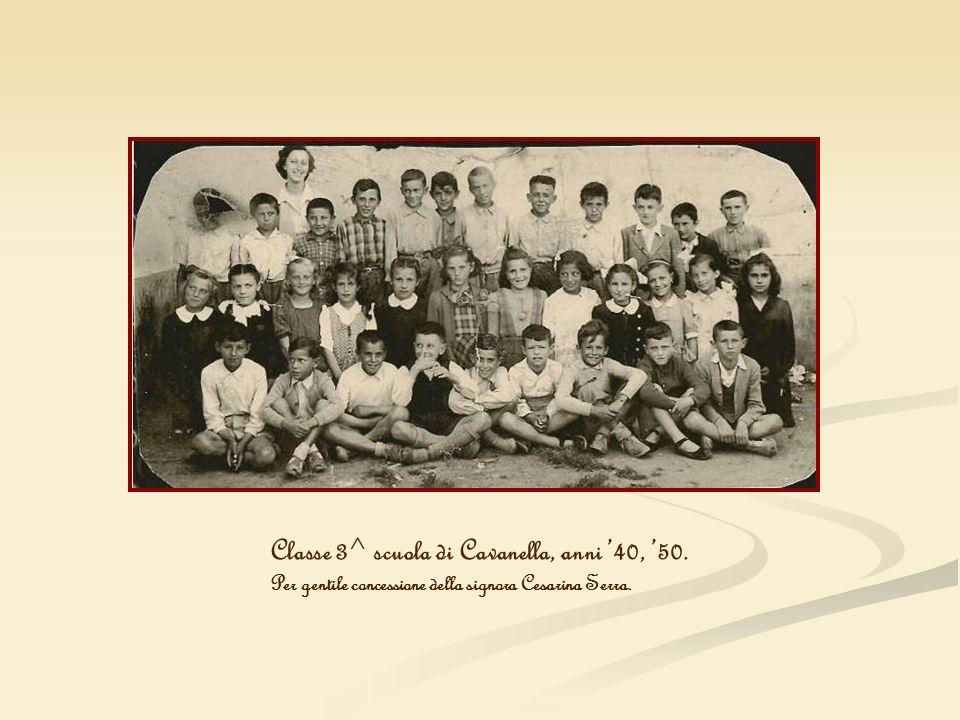 Classe 3^ scuola di Cavanella, anni 40, 50. Per gentile concessione della signora Cesarina Serra.