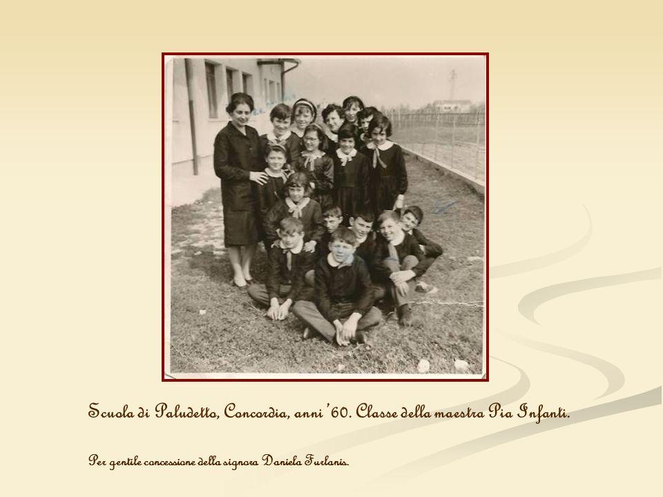 Scuola di Paludetto, Concordia, anni 60. Classe della maestra Pia Infanti. Per gentile concessione della signora Daniela Furlanis.