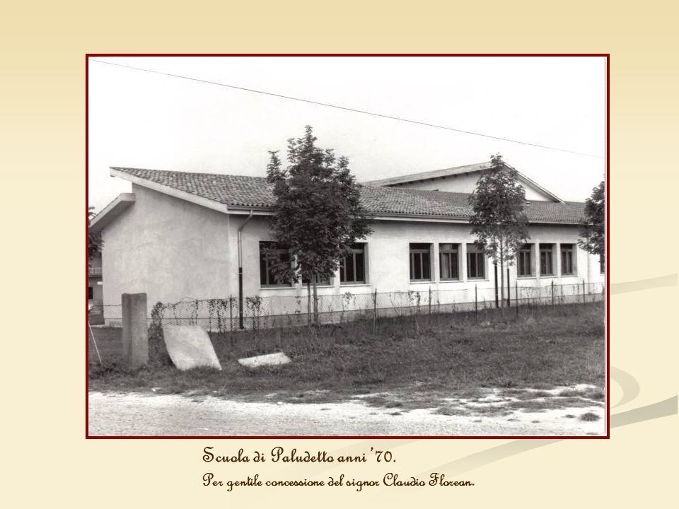 Scuola di Paludetto anni 70. Per gentile concessione del signor Claudio Florean.