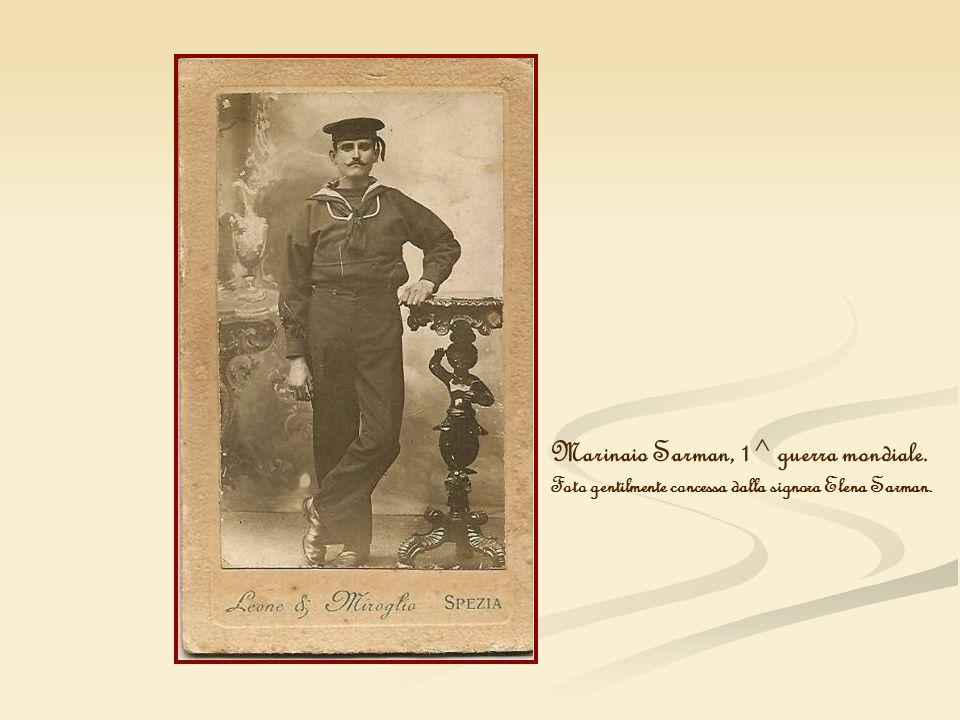 Marinaio Sarman, 1^ guerra mondiale. Foto gentilmente concessa dalla signora Elena Sarman.