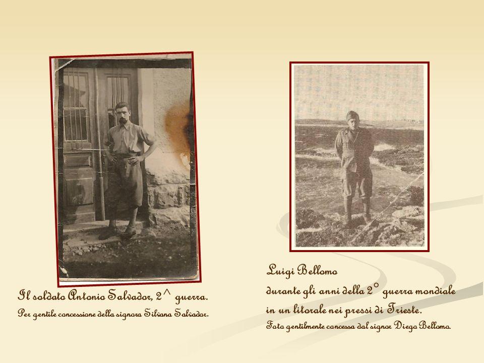 Luigi Bellomo durante gli anni della 2° guerra mondiale in un litorale nei pressi di Trieste. Foto gentilmente concessa dal signor Diego Bellomo. Il s