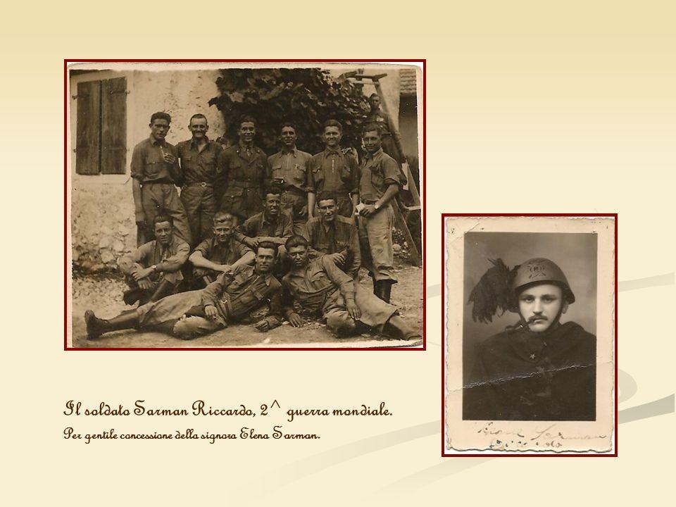 Il soldato Sarman Riccardo, 2^ guerra mondiale. Per gentile concessione della signora Elena Sarman.