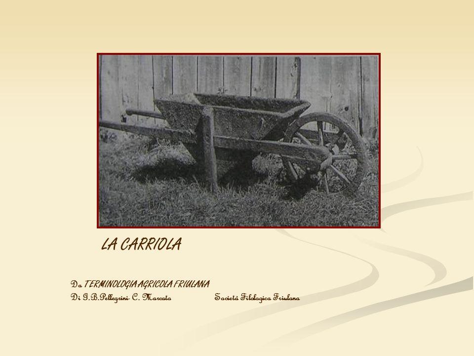 LA CARRIOLA Da TERMINOLOGIA AGRICOLA FRIULANA Di G.B.Pellegrini- C. Marcato Società Filologica Friulana