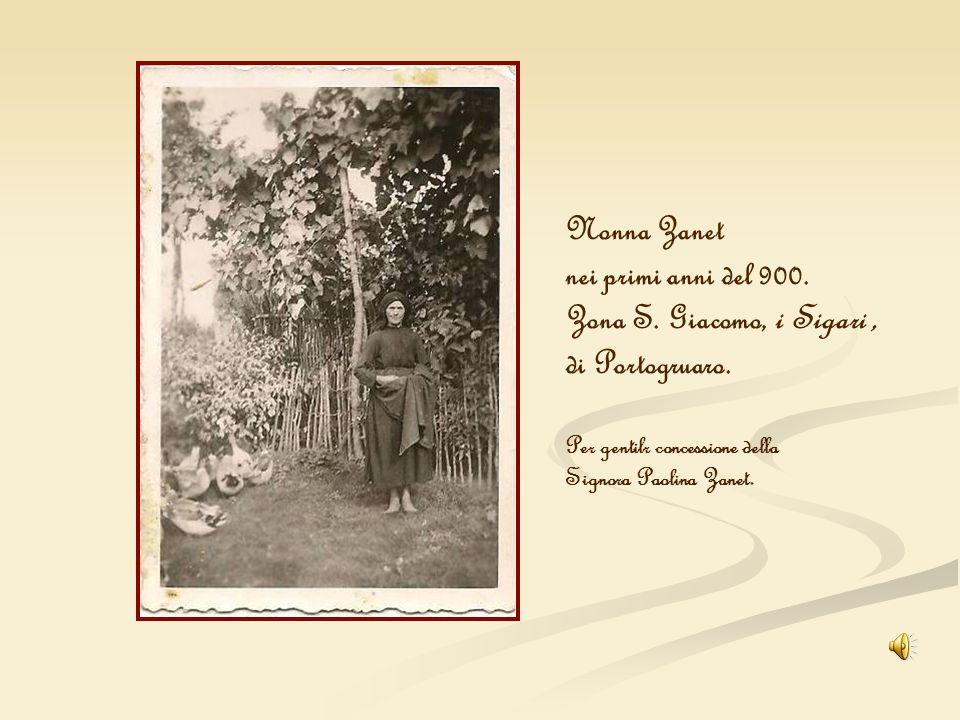 Nonna Zanet nei primi anni del 900. Zona S. Giacomo, i Sigari, di Portogruaro. Per gentilr concessione della Signora Paolina Zanet.