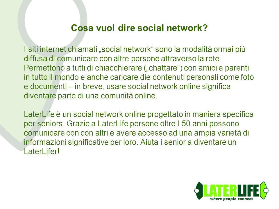 Cosa vuol dire social network.