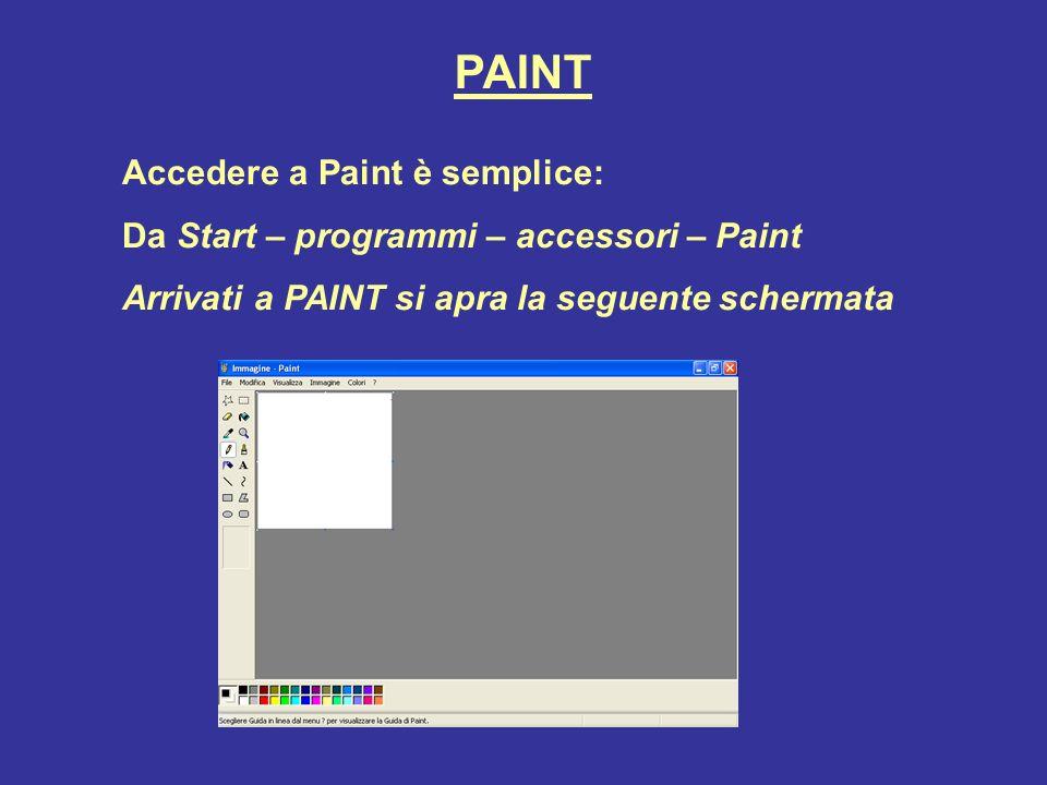 PAINT La barra del menu di PAINTè uguale a tutti i programmi della microsoft.