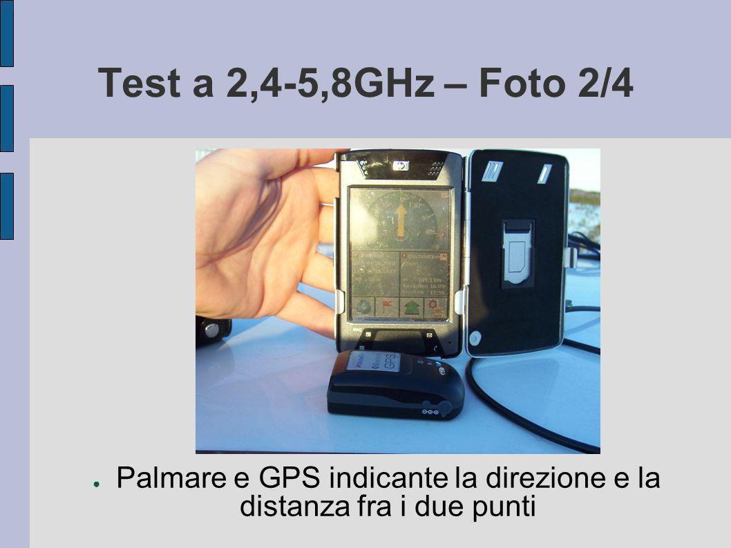 Test a 2,4-5,8GHz – Foto 2/4 Palmare e GPS indicante la direzione e la distanza fra i due punti