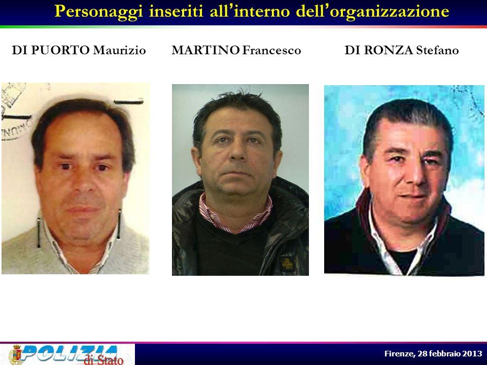 Firenze, 28 febbraio 2013 LUCARIELLO Maria Grazia nata a Caserta il 12.06.1969 MUNDO Salvatore detto o Mister, nato a Napoli il 06.07.1968 DI PUORTO Maurizio nato a S.
