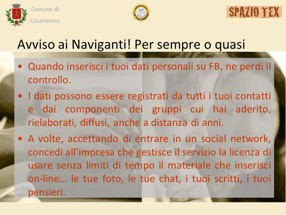 Comune di Casatenovo Avviso ai Naviganti.