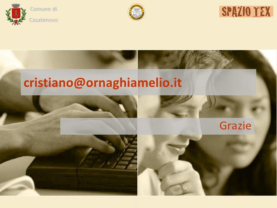 Comune di Casatenovo cristiano@ornaghiamelio.it Grazie