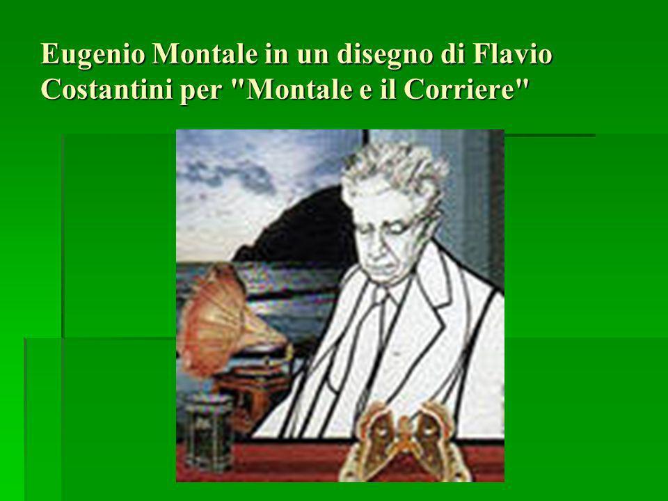 Eugenio Montale in un disegno di Flavio Costantini per