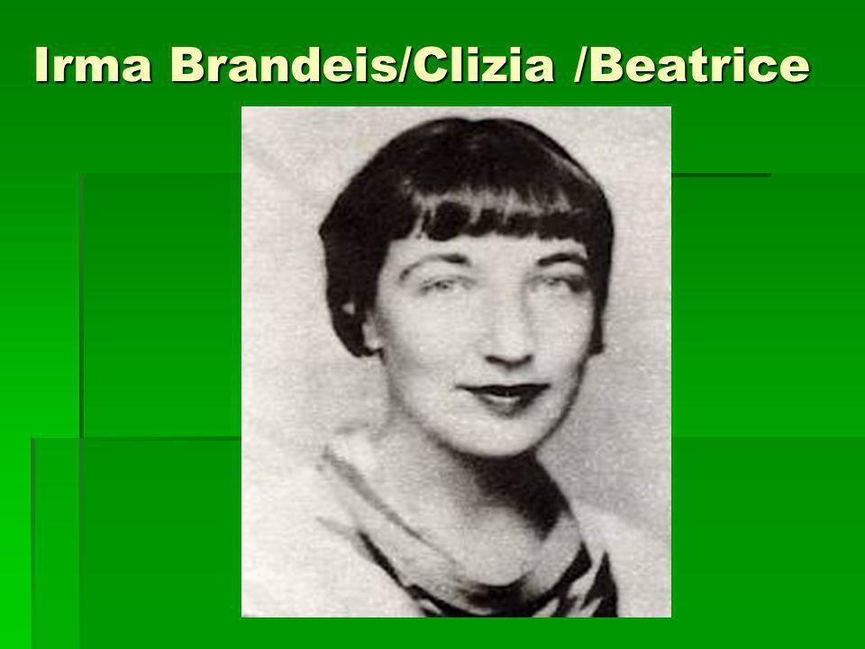 Irma Brandeis/Clizia /Beatrice